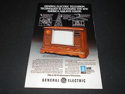 GENERAL ELECTRIC GE vintage television magazineads lot *