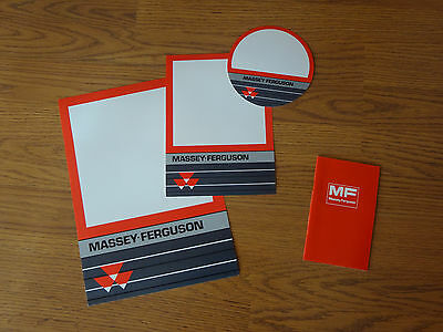 Massey Ferguson vintage advertising pricing card assortment and notebook