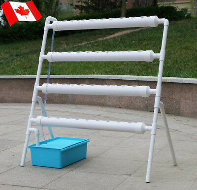 Ladder Type Planting Vegatable System Hydroponic Site Grow Kit 36 Holes w/ Pump