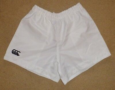New Size 32 / Mens Canterbury Classics Rugby Union Shorts White Polyester