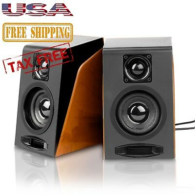 Wired Computer Speakers USB Powered Stereo Speakers For Tablet Laptop PC Desktop