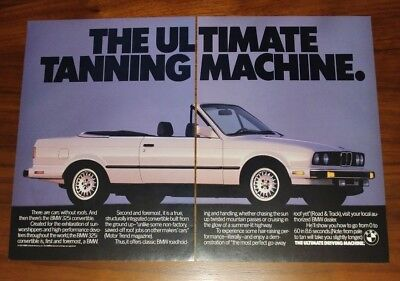 Bmw 3 Series E30 Magazine Advertisements Coupe Convertible Ultimate Tanning
