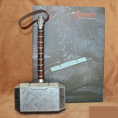 New Thor The Dark World 1:1  Size Hammer Mjolnir Model Painted Statue Movie Prop