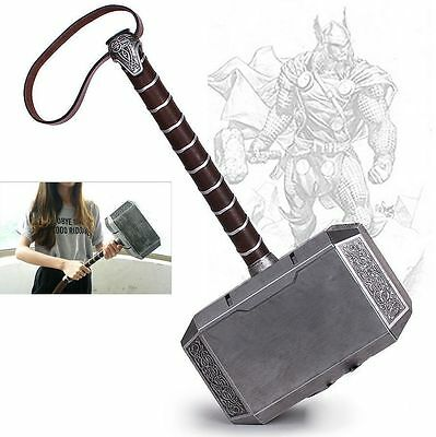 "Hot 17.3""Avengers Thor The Dark World Hammer Mjolnir Prop Cosplay Toy Gift 1:1"