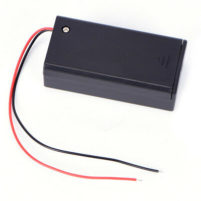 9V Volt PP3 Battery Holder Box DC Case With Wire Lead ON/OFF Switch Cover HK