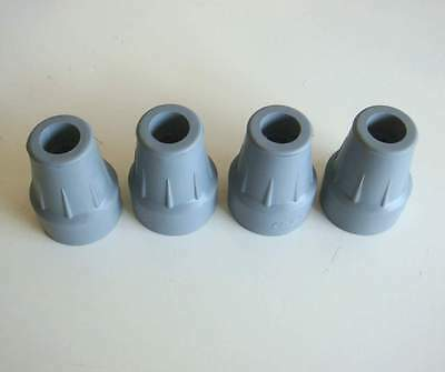 """4 of 18mm Grey Coopers Ferrules Crutch tip Stick Frame Ends 11/16"""""""