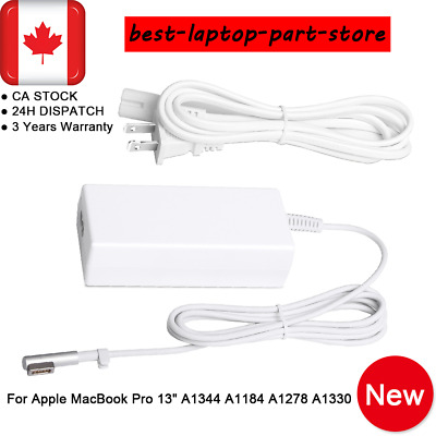 "60W For Apple Mac MacBook Pro 13"" Power Adapter Charger A1344 A1184 A1278 A1330"