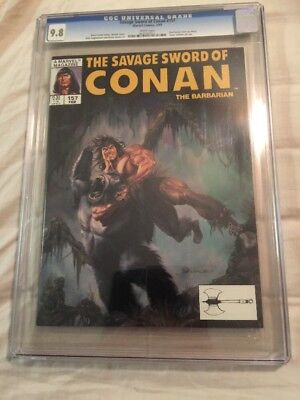 The Savage Sword Of Conan 157 CGC 9.8 Red Sonja Awesome Cover !!!!!!!