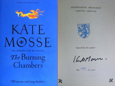 Signed Book The Burning Chambers by Kate Mosse 1st Edition Hdbk 2018 Limited