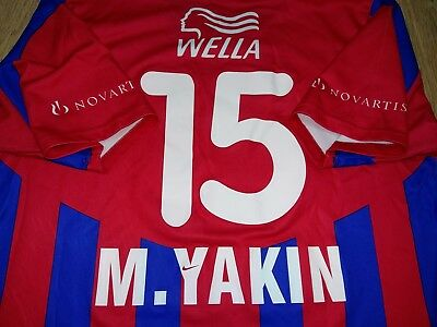 Basel Switzerland 2000 - 2001 #15 M. Yakin rare player issue home shirt size L