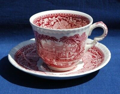 """Mason's Ironstone """"pink Vista"""" Cup & Saucer. Excellent Condition."""
