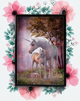 Magical Unicorn Foal Mural Fantasy Giant Poster - A4 A3 A2 A1 Sizes