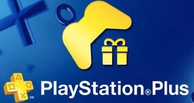 1 Month PS Plus PlayStation PSN PS4-PS3 -Vita (2x14 Days)and 1 Gift No Code