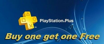 PS PLUS 14 DAY PS4-PS3-PS VITA PLAYSTATION  PSN  (Buy one, Get One Free) No Code