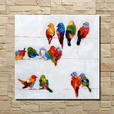 ZWPT304  hand-painted modern wall decor art birds oil painting on canvas
