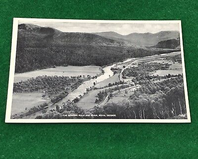 The Winding Road & River Royal Deeside Aberdeenshire Un-Posted Vintage Postcard
