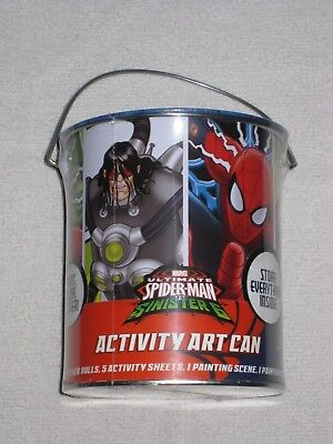 Marvel Ultimate Spiderman vs Sinister 6 ACTIVITY ART CAN - NEW - paint/color kit