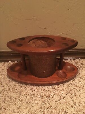 Vintage Fairfax Wooden 6 Pipe Holder Stand Display TOBACCO HUMIDOR