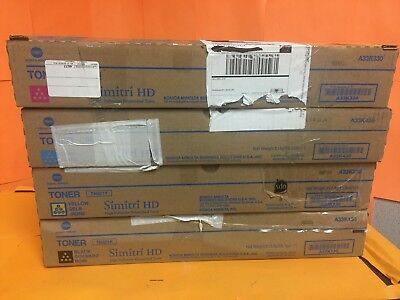 New Genuine Konica Minolta TN321C M Y K Toner (4 Pack) Set Sealed