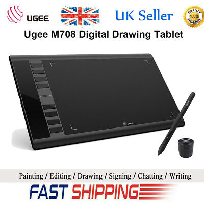 "Ugee M708 10"" x 6"" Ultra-thin Draw Digital Graphics Painting Drawing Tablet Art"