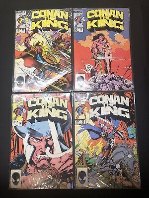 Conan The King Comic Books Marvel Stan Lee 1984 Lot Of 4 - #32-35