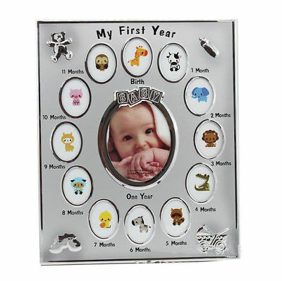 Baby My First Year Photo Frame Newborn 12 Months Picture Standing