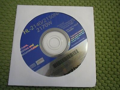 Genuine Brother HL-2140 HL-2170W  Printer CD Software Drivers Utilities
