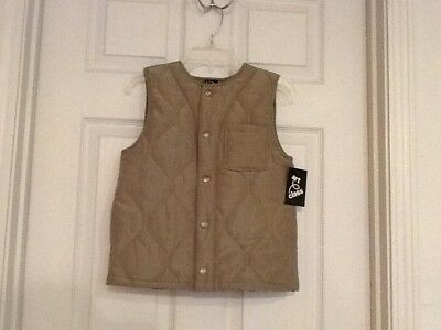 Art Class Boys Quilted Vest Restful Green Sizes Small 6/7 & XL 16 NEW