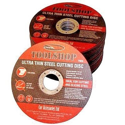 "100 x 115mm 4.5"" ULTRA THIN 1mm METAL CUTTING BLADE DISC 1/2"" STEEL & STAINLESS"
