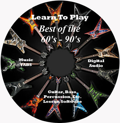 Best Of The 60s - 90s 1200 Songs Guitar TABS Lesson CD + BONUS!