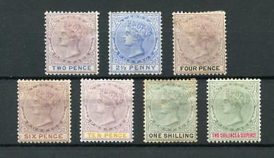 Nigeria Lagos 1887-1902 values to 2/6  MM - see desc