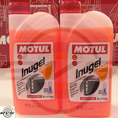 2 Litri Liquido Antigelo Radiatore MOTUL INUGEL OPTIMAL Rosso PRONTO USO -37°