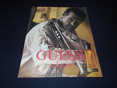 GUESS men's cologne/fragrance magazine ads lot * Seductive Suede Night