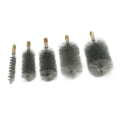 18-75mm Dia Stainless Steel Cylinder Wire Tube Pipe Cleaning Brush 1Pcs