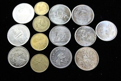Eqypt 14 assorted coins   lot H 774