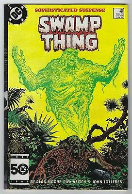 Swamp Thing #37 (1985, DC) 1st App John Constantine, Alan Moore, F/F+