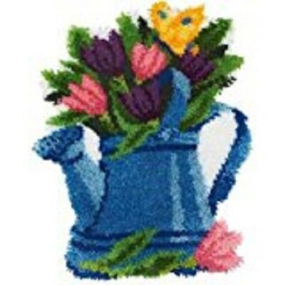 "Latch Hook Kit""Flowers in a Watering Can"" 52x38cm"