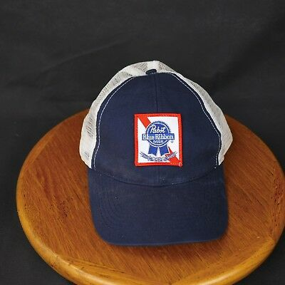 Pabst Blue Ribbon American Icon Navy Blue White Snapback Trucker Hat