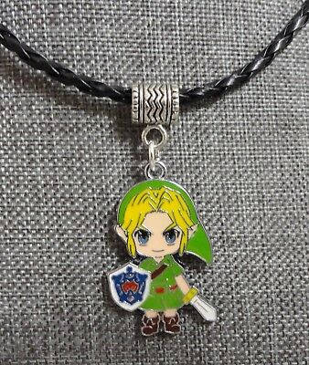 "Link The Legend of Zelda Braided Cord Necklace 18"" Majora's Mask Jewelry"