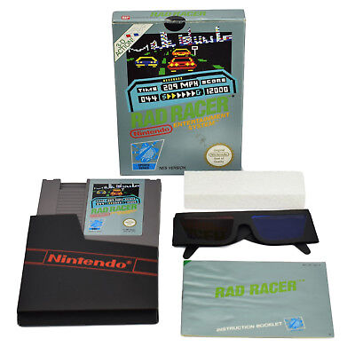 Rad Racer Nintendo NES Game Complete Boxed Manual & Original 3D Glasses PAL UKV