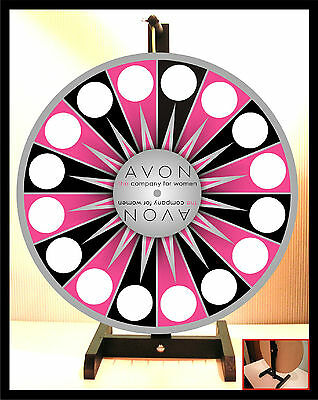 "Prize Wheel 18"" Spinning Tabletop Portable Avon Silver Ctr"