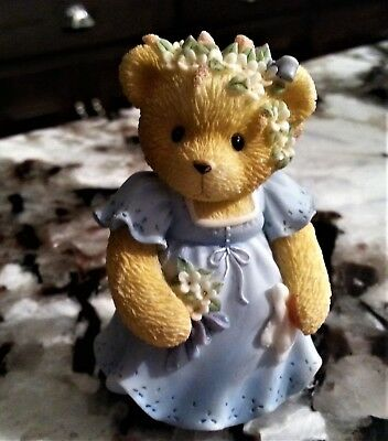 1998 Cherished Teddies Glad to Be Part of You Special Day Bridesmaid Figurine