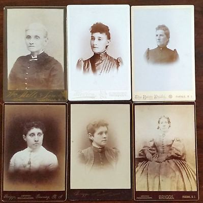 Mixed Lot of 14 AMERICAN Ladies Early Cabinet Photos C.1890