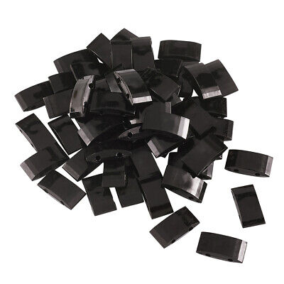 750pcs Acrylic Beads Rectangle Black Two-hole Carrier Beads 17x9mm