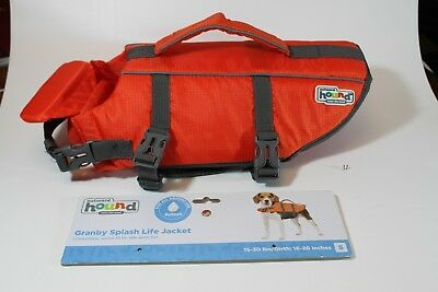 OUTWARD HOUND Granby Dog Life Jacket Orange with Rescue Handle Size Small