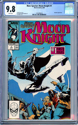 Marc Spector : Moon Knight #1 Cgc 9.8 White Pages Bushman 1989