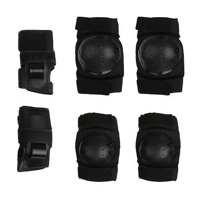 Outdoor Adult/Child Knee Elbow Wrist Pads Guard Protective Skating Black S