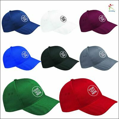 Personalised Embroidered Hat Custom Printed Baseball Cap Unisex Any Text Logo