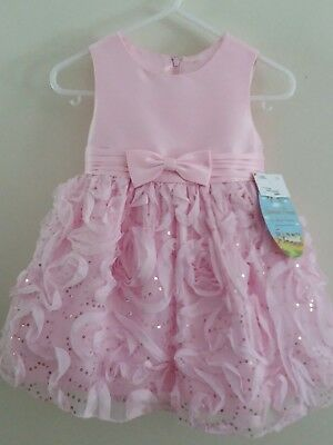 American Princess Ice Pink Girl Plus Size 145 Sequin Party Dress