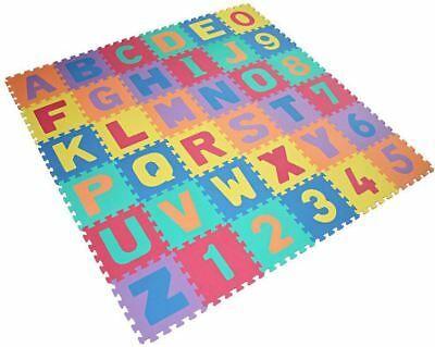 Large Soft Foam 36 Piece Letters & Numbers Jigsaw Children Learning Play Mat
